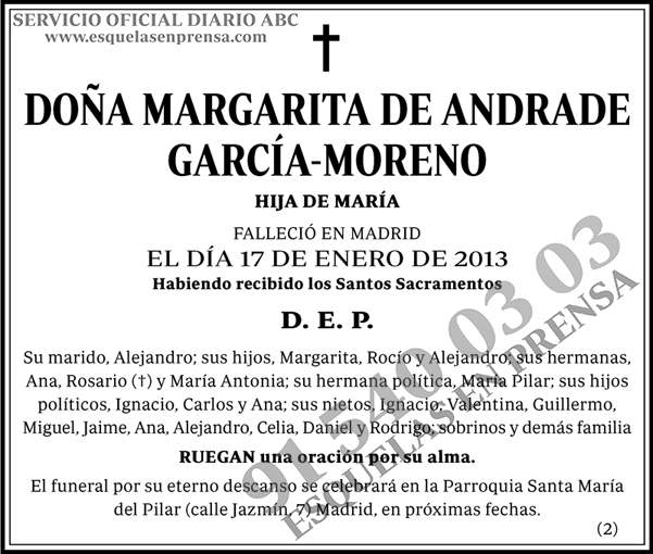 Margarita de Andrade García-Moreno